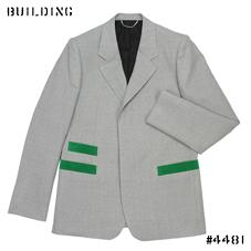 JOHN LAWRENCE SULLIVAN_JACKET_LIGHT GRAY×GREEN