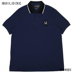 RAF SIMONS×FRED PERRY_CONTRAST PIQUE POLO SHIRT_NAVY
