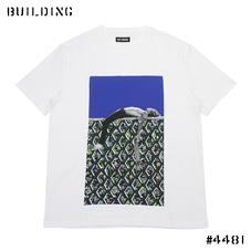 RAF SIMONS_BOY SKATE TEE SHIRT_WHITE×BLUE