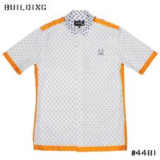 RAF SIMONS×FRED PERRY_S/S SHIRT_WHITE×ORANGE
