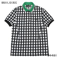 RAF SIMONS×FRED PERRY_BLOCK CHECK POLO_BLACK×WHITE