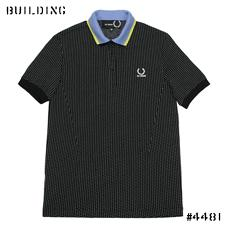 RAF SIMONS×FRED PERRY_DOT POLO_BLACK×WHITE