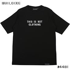 THIS IS NOT CLOTHING by JAM SUTTON_ENBROIDERY and PRINT TEE_BLACK