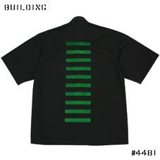 JOHN LAWRENCE SULLIVAN_DONALD JUDD SHIRT_BLACK×GREEN