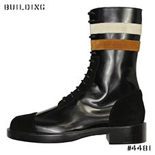 RAF SIMONS_NARROW BOOTS WITH 2 STRIPES_BLACK