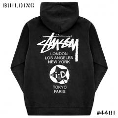 i-D MAGAZINE×STUSSY_WORLD TOUR HOODIE_BLACK(GREY)