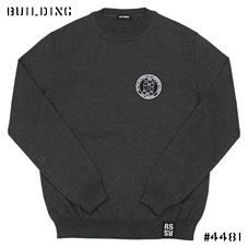 RAF SIMONS_KNIT WITH BADGE_GRAY