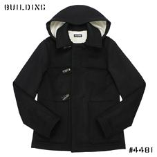 RAF SIMONS_SHORT DUFFLE COAT_BLACK