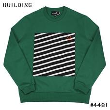 RAF SIMONS×FRED PERRY_STRIPE SWEAT_GREEN
