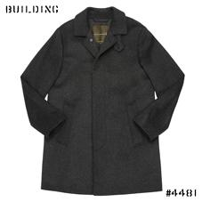 "MACKINTOSH_SOUTIEN COLLAR COAT""DUNOON""MODEL_CHARCOAL GRAY"