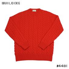 MAISON KITSUNE_CABLE KNIT_RED