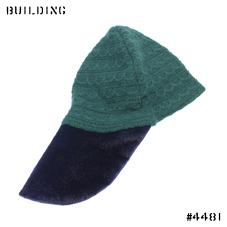 RAF SIMONS_KNIT CAP_GREEN×NAVY