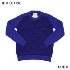 KUBRICK×Corgi_CREW NECK KNIT_BLUE