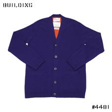 KUBRICK×Corgi_TUCK CARDIGAN_NAVY×ORANGE
