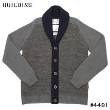 KUBRICK×Corgi_SHAWL COLLAR CARDIGAN_BROWN×GRAY×NAVY