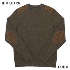 HOLLAND ESQUIRE_CREW NECK KNIT_BROWN