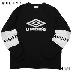 AVNIER×UMBRO_LOGO SWEAT_BLACK