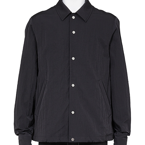 FUMITO GANRYU_PLEATS COACH JACKET_BLACK