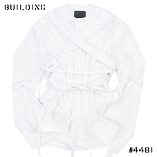 CRAIG GREEN_HARNESS SHIRT_WHITE