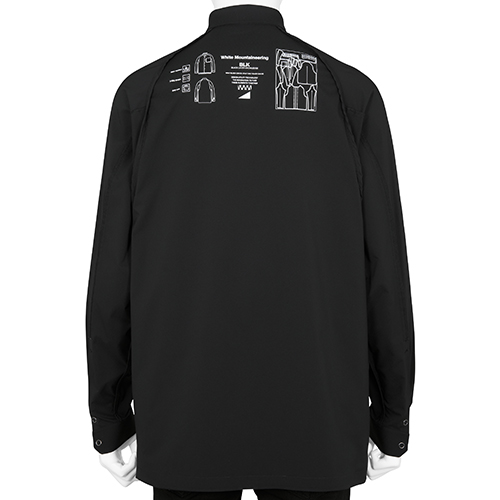BLK WHITE MOUNTAINEERING TECH SHIRT BLACK