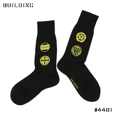 RAF SIMONS_SOCKS_BLACK×YELLOW