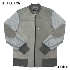 CHRISTOPHER RAEBURN_MESH BOMBER JACKET_GRAY×LIGHT GRAY