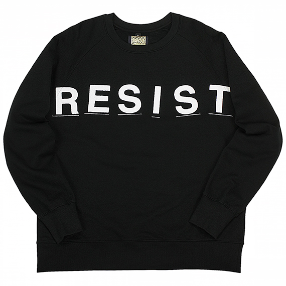 RAGGED KINGDOM by JAMIE REID_RESIST SWEAT_BLACK