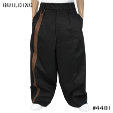 RAF SIMONS_RAVER PANTS WITH 1 STRIPE_BLACK