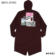 RAF SIMONS_MODS COAT_BURGUNDY