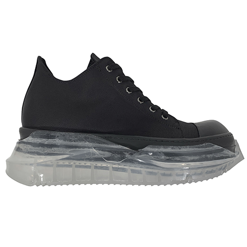 RICK OWENS DRKSHDW_CLEAR SOLE SHOES_BLACK