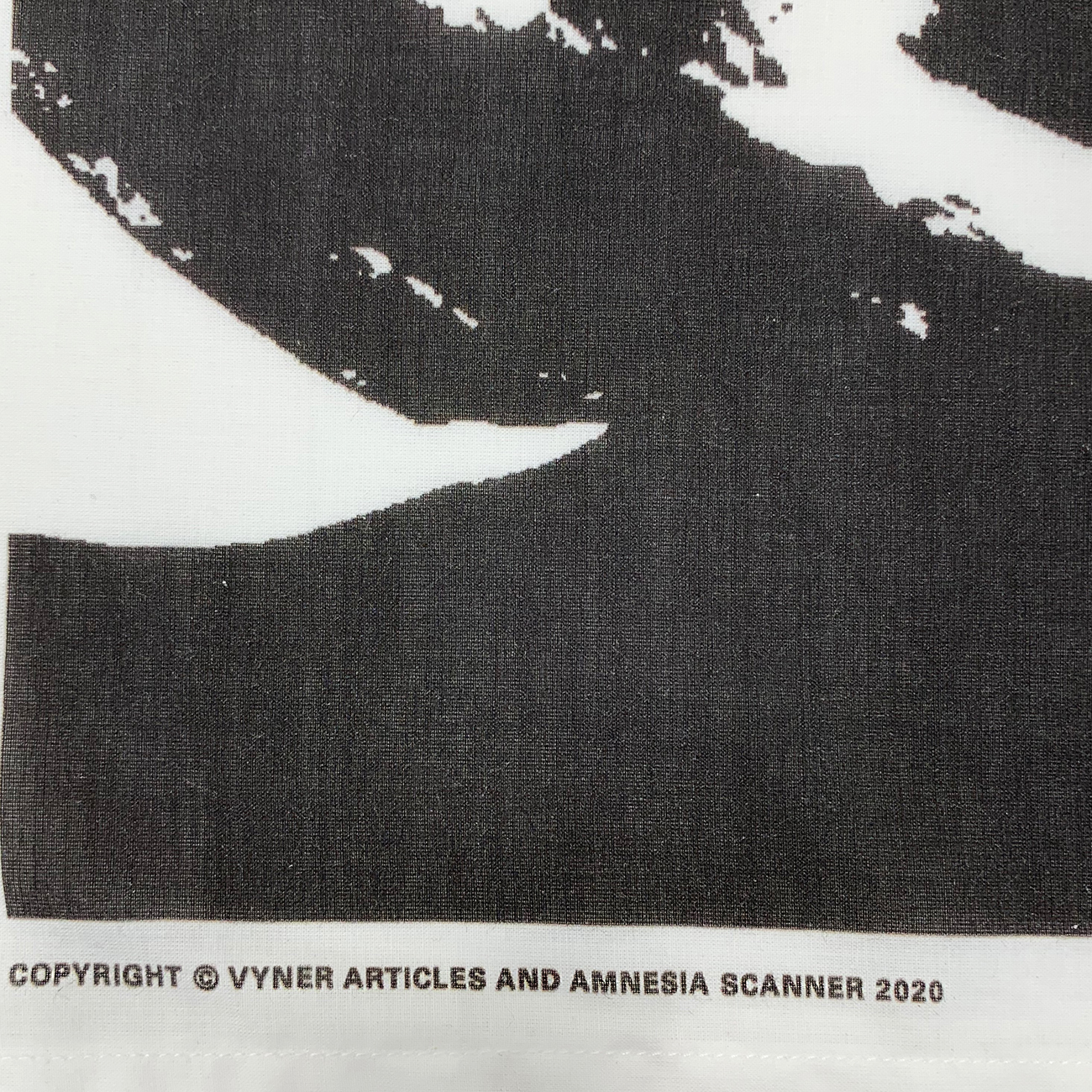 VYNER ARTICLES (ヴァイナー アーティクルズ) - VYNER ARTICLES AMNESIA SCANNER COLLABORATION BANDANA[LIFE] WHITEの詳細画像2