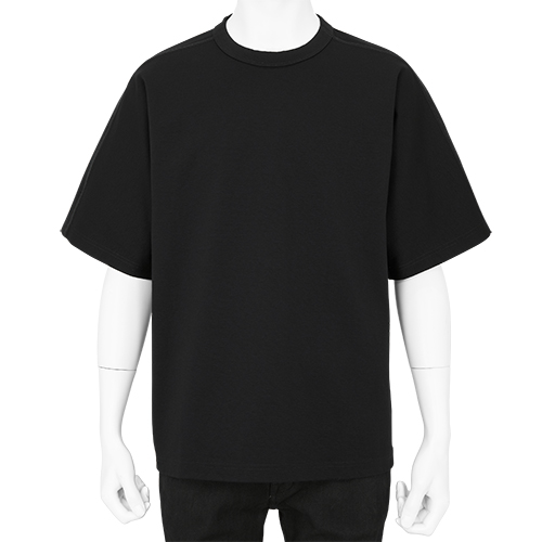 BLK WHITE MOUNTAINEERING DARTED T-SHRT BLACK