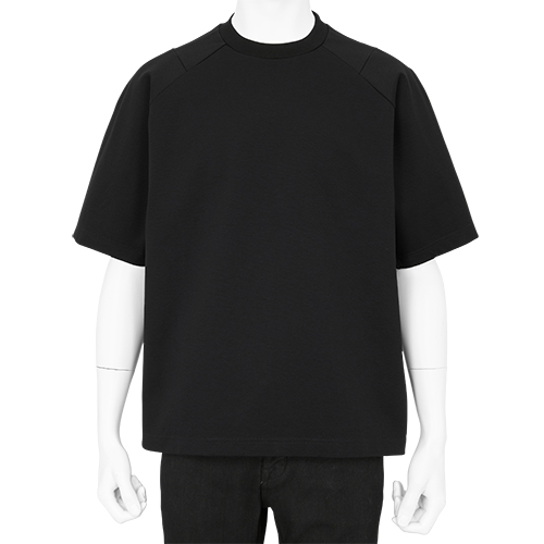 BLK WHITE MOUNTAINEERING RAGLAN CONTRASTED T-SHRT BLACK