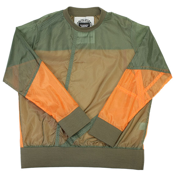 CHRISTOPHER RAEBURN_REMADE LONG SLEEVE_OLIVE×ORANGE