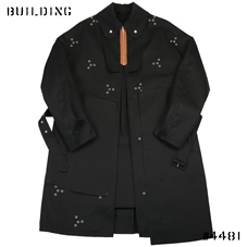 RAF SIMONS_COAT WITH EYELET_BLACK