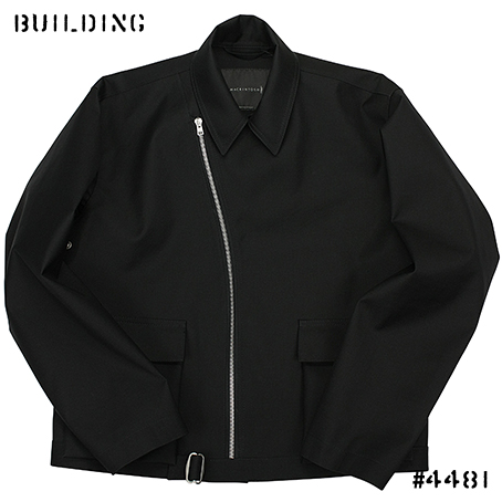 MACKINTOSH 0002_RUBBERIZED ZIP JACKET_BLACK