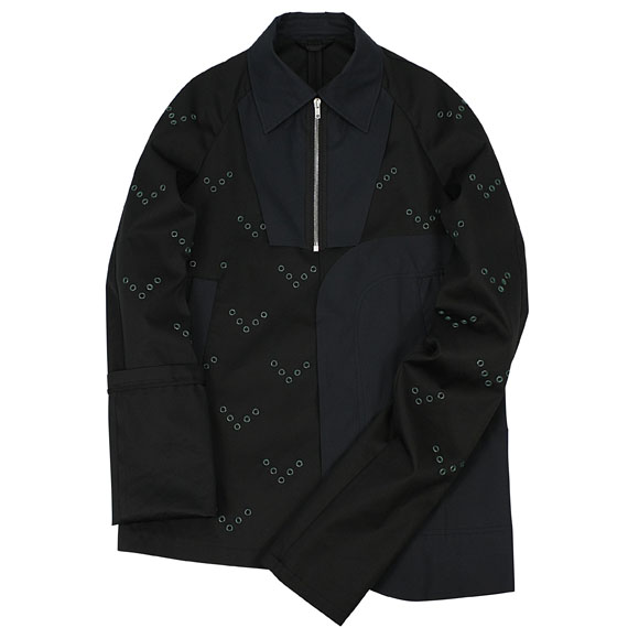 RAF SIMONS_BLOUSON WITH EYELET_BLACK
