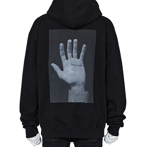 DUST MAGAZINE×PETER DE POTTER_SWEAT HOODIE [HAND]_BLACK