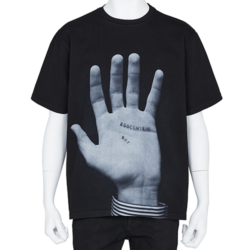 DUST MAGAZINE×PETER DE POTTER_S/S TEE [ BIG HAND ]_BLACK