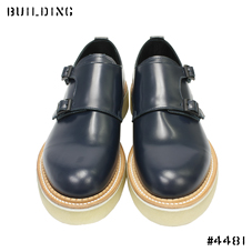 KIDS LOVE GAITE_DOUBLE MONK STRAP SHOES_NAVY