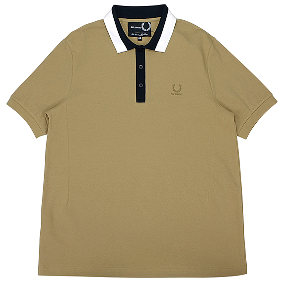 RAF SIMONS×FRED PERRY_TAPE COLLAR PIQUE POLO SHIRT_BEIGE