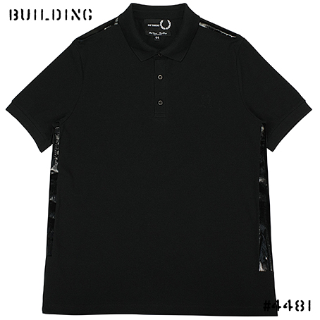 RAF SIMONS×FRED PERRY_TAPE DETAIL PIQUE POLO SHIRT_BLACK