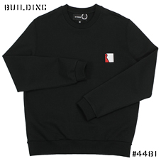 RAF SIMONS×FRED PERRY_CREW NECK SWEAT_BLACK