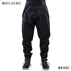 ACRONYM_P24-S HD GABARDINE ARTICULATED TROUSER_BLACK