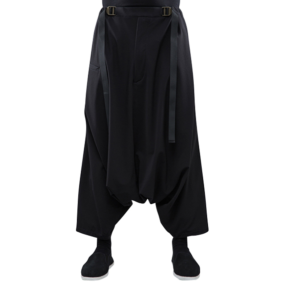 ACRONYM_P25-DS HD JERSEY ULTRAWIDE TROUSER_BLACK