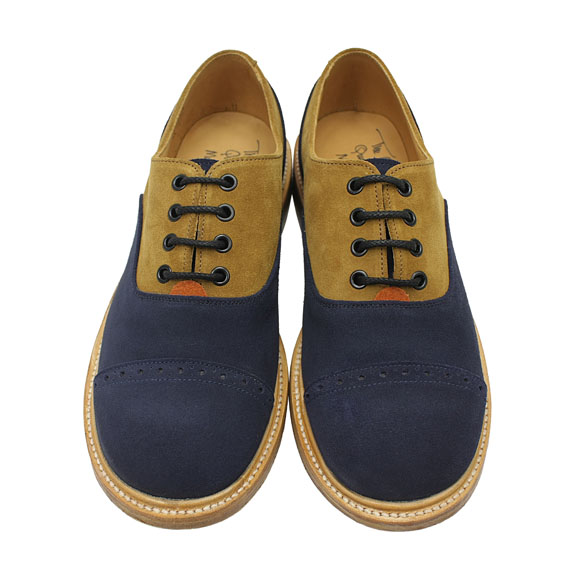 THE OLD CURIOSITY SHOP×QUILP by Tricker's_COMBINATION SHOES_BROWN×NAVY×ORANGE