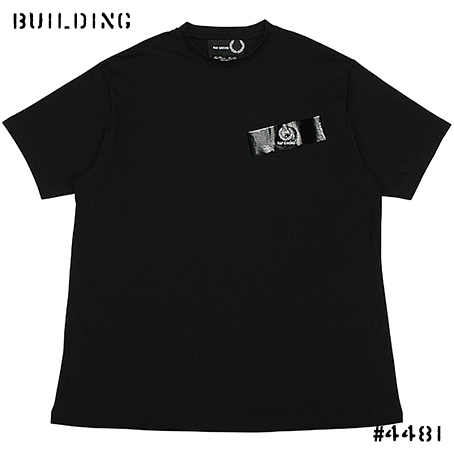 RAF SIMONS×FRED PERRY_TAPE TEE SHIRT_BLACK
