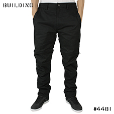 MAHARISHI_ZIP OFF PANTS_BLACK