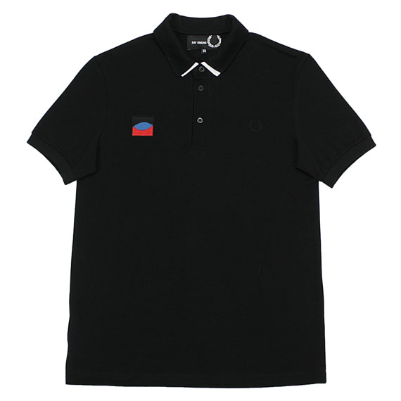 RAF SIMONS×FRED PERRY_DETACHABLE COLLAR POLO_BLACK