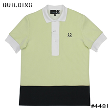 RAF SIMONS×FRED PERRY_MESH POLO_LEMON YELLOW